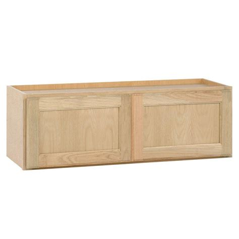 Kitchen Cabinet Unfinished Assembled 30x12x12 In Wall Bridge Kitchen Cabinet In Unfinished Oak W3012ohd The Home Depot