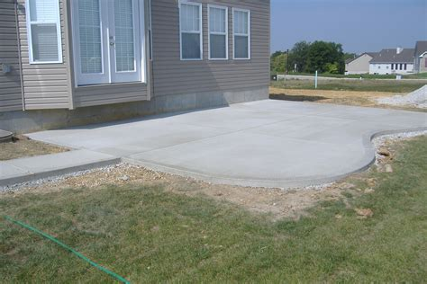 how to cement backyard concrete contractor winnipeg cement stone age concrete