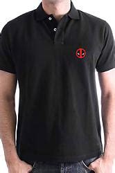 Kaos Deadpool Logo Polo Shirt buy clothing marvel comics polo shirt deadpool logo size