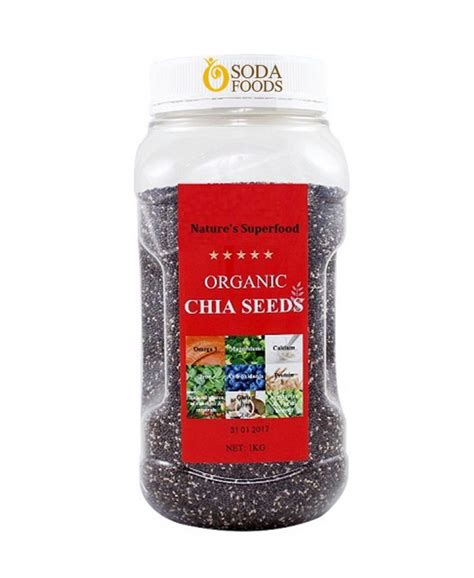 Organic Chia Seed organic chia seed nature superfood 1kg sodafoods