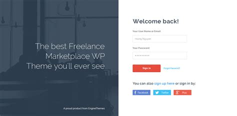 Freelanceengine Freelance Marketplace Template By Enginewpthemes Freelance Marketplace Website Template