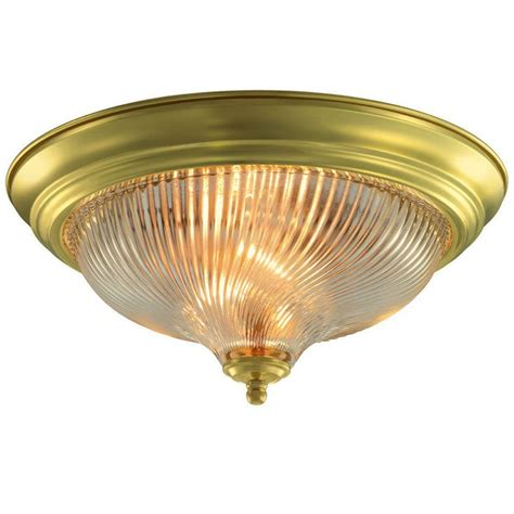 brass flush mount ceiling light brass flushmount lights ceiling lights the home depot