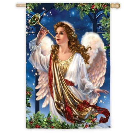 christmas angel in the house herald angel house flag christmas house flags holiday house flags house flags