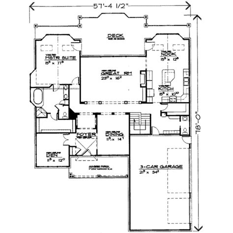 7 bedroom floor plans traditional style house plan 7 beds 3 5 baths 4214 sq ft