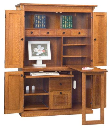 Armoire Desks Home Office by 2 916 Amish Office Furniture Mission Computer Armoire 866