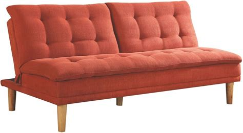 orange sofa bed from coaster coleman furniture