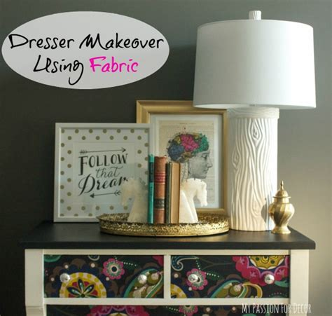 hometalk dresser makeover  fabric  mod podge