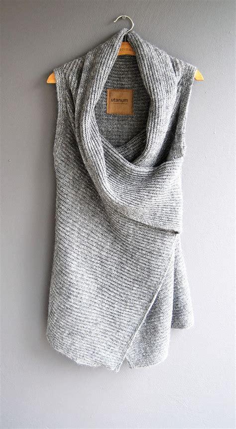 grey knit vest knit asymmetrical vest fashionista in me