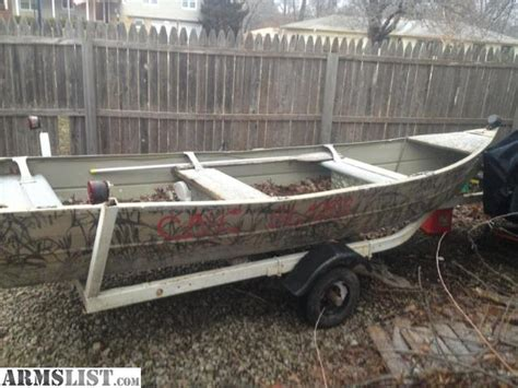 flat bottom boat for sale kansas armslist for sale flat botton boats 1 alluminum and 1