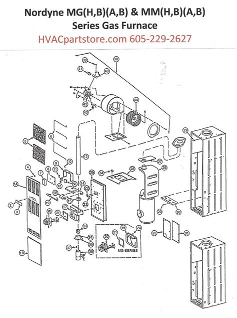 furnace parts diagram mgha077 nordyne gas furnace parts hvacpartstore
