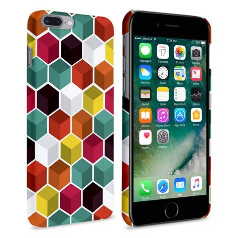 caseflex iphone 7 plus 3d geo hexagon pattern mobile madhouse