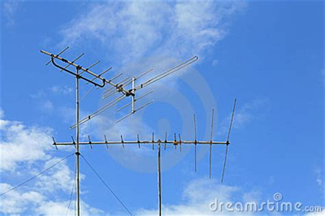 fasioned home tv antenna stock photography image