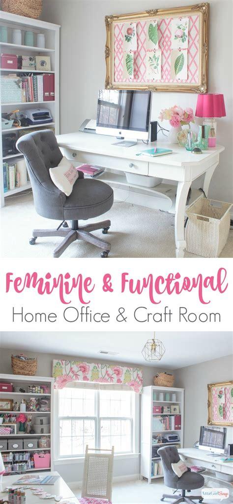 feminine home office craft room tour atta says
