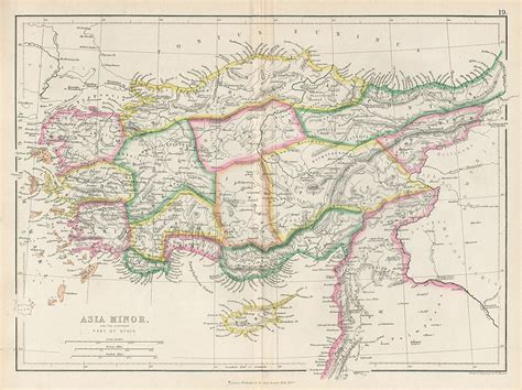 asia minor map and antique prints and maps ancient asia minor 1858 historical and classical maps
