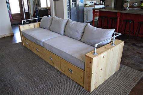 How To Make Wooden Sofa Frame by White Modern Wood Storage Sofa Diy Projects