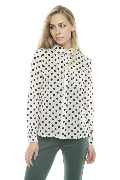 Blouse Atasan Polkadot lovely polka dot blouse from bucktown by dress up shoptiques