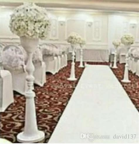 Wedding Aisle Flower Stands by Wholesale White Iron Aisle Stands Weddings Pillars