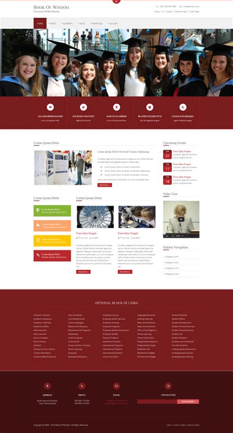 Premium Website Templates by Book Of Wisdom Website Template Premium Website