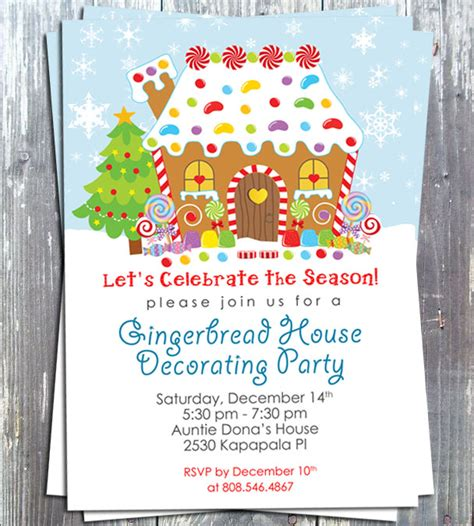 printable gingerbread house invitations gingerbread house decoration party invitation e file