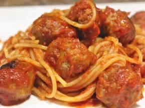 Pork meatballs and pasta