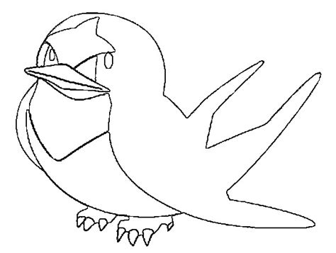 pokemon coloring pages taillow coloring pages pokemon taillow drawings pokemon