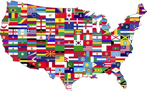 States In America clipart melting pot with stroke