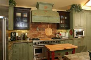 Victorian Bathrooms Decorating Ideas Country Green Kitchen Farmhouse Kitchen Other Metro