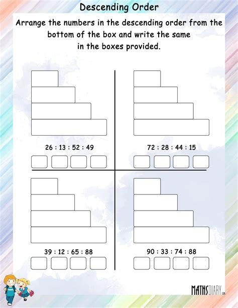 decreasing pattern activities descending order mathsdiary com