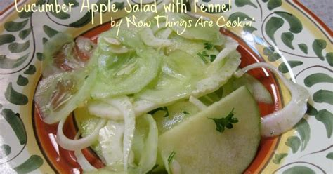 Cucumber Apple Fennel Detox by Now Things Are Cookin Cucumber Apple Salad With Fennel