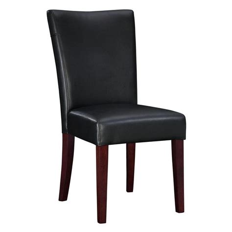 black leather dining bench black leather parsons dining chairs home furniture design
