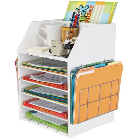 Really Good Teachers Desktop Organizer With Paper Holders Desk Top Organizer