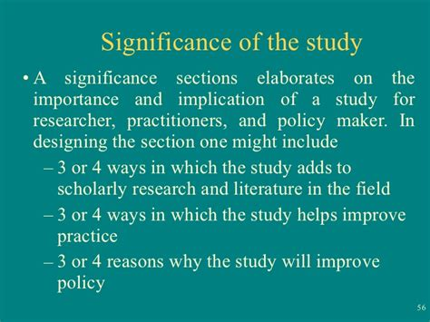 Significance Of The Study In Research Paper Exle by Significance Of The Study Thesis