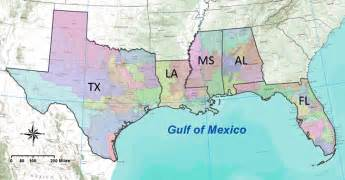 map us states gulf mexico gulf of mexico alliance contact information