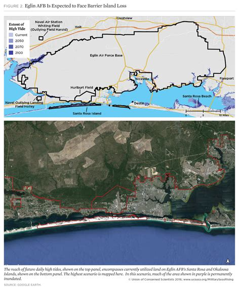 us navy global warming map on the front lines of rising seas eglin air base