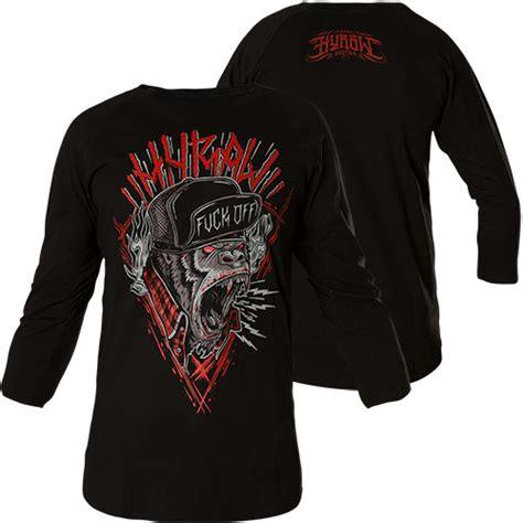 Monkey Print Sleeve T Shirt hyraw sleeve shirt monkey in black print of