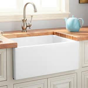 farmhouse bathroom sinks 30 quot mitzy fireclay reversible farmhouse sink smooth apron