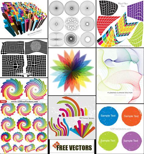 design elements pack free colorful design elements vector pack 123freevectors