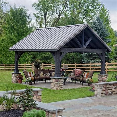 25 best ideas about backyard pavilion on