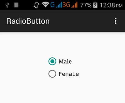 android radio button android radio button exle tutorial android exles