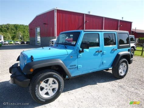 jeep wrangler blue 2017 chief blue jeep wrangler unlimited sport 4x4