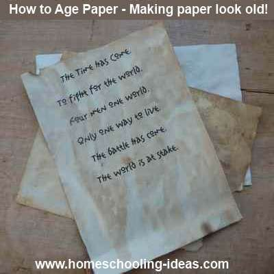 How To Make Paper Look With Coffee - best 25 aging paper ideas on how to age paper