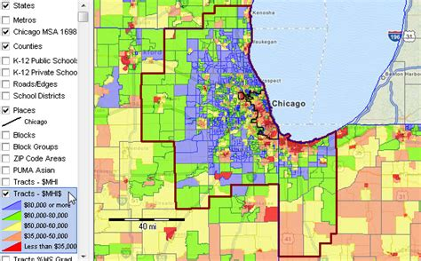 chicago county map chicago msa metropolitan area demographic trends