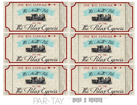 express template polar express tickets free printable like a