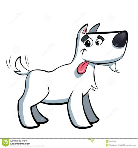 cartoon white white cartoon terrier russell dog drooling royalty free