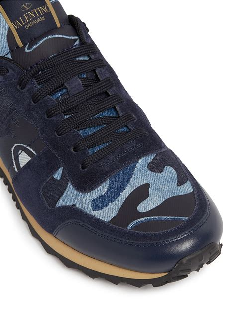 Sneakers Denim lyst valentino camouflage patchwork denim sneakers for