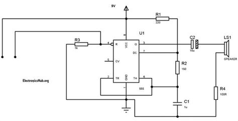 circuit diagram of water level alarm using 555 timer all