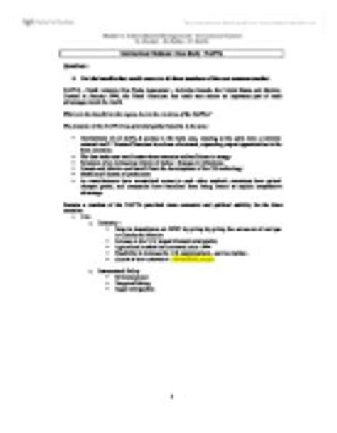 International Business : Case Study : NAFTA (questions and