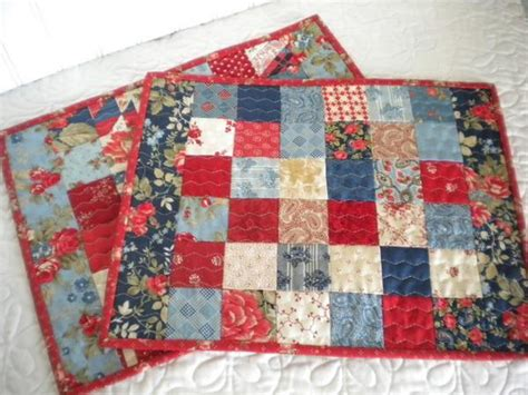 Patchwork Placemat Patterns - patriotic quilt designs and projects for the fourth of july