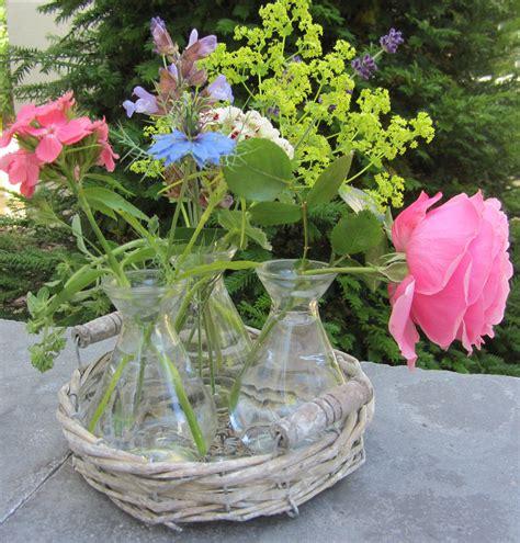 garten deko vasen 10307 tablett korb 3 vasen deko garten landhaus ebay