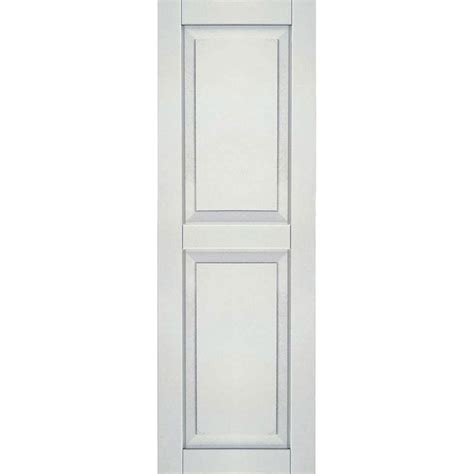 Homebasics Plantation Faux Wood White Interior Shutter Interior Window Shutters Home Depot 2